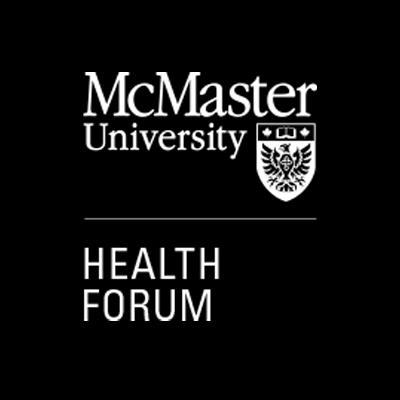 McMaster Health Forum logo - black