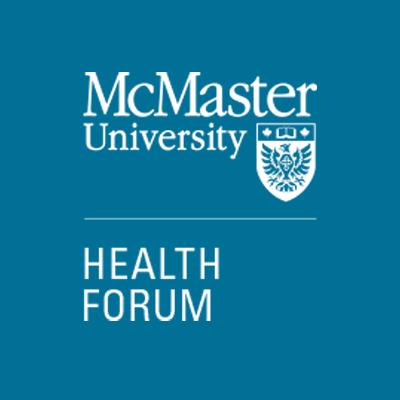 McMaster Health Forum logo - blue