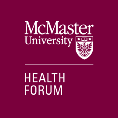 McMaster Health Forum logo - maroon