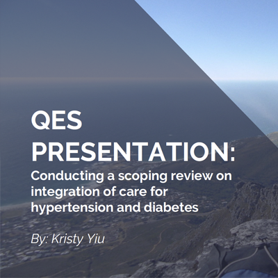 Conducting a scoping review on integration of care for hypertension and diabetes